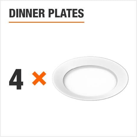 Dinnerware set includes 4 Dinner Plates