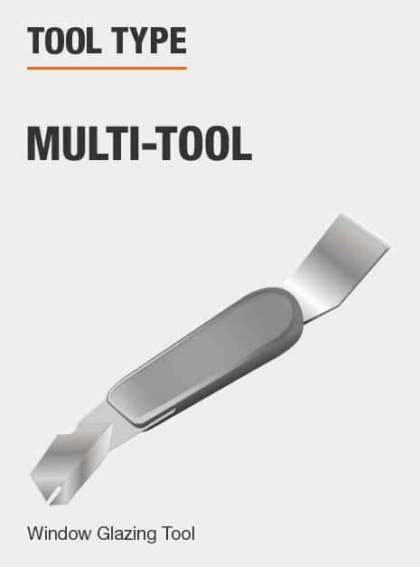 multi-use window glazing tool