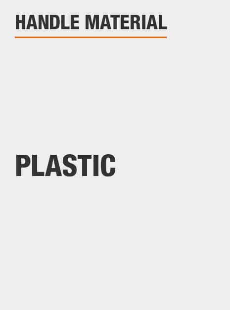 plastic body around blade