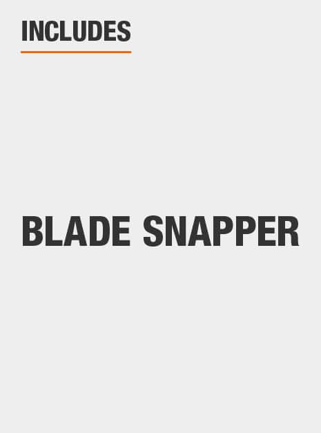 built-in blade snapper to snap off dull tip and reveal fresh edge