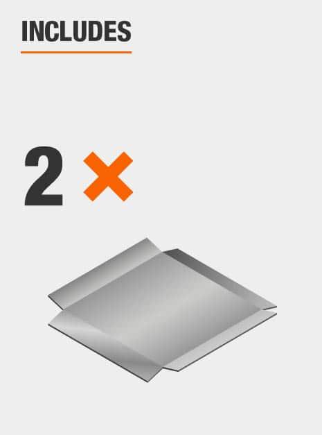 Two pack of carbon steel scraper blades.