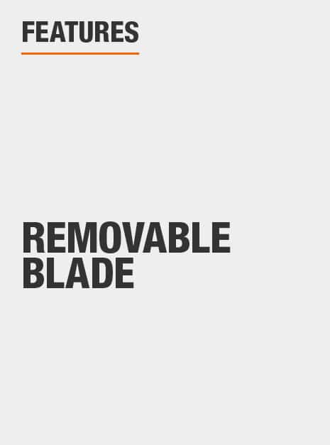 Removable blade.