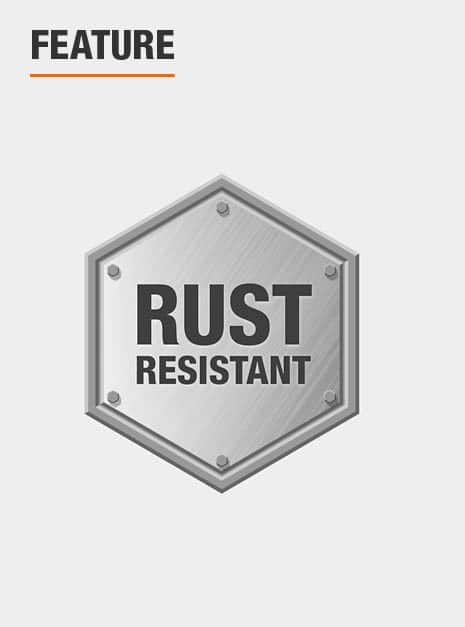 Made from rust resistant materials.