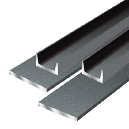 This is an image of a flat bar and channel cutting material application