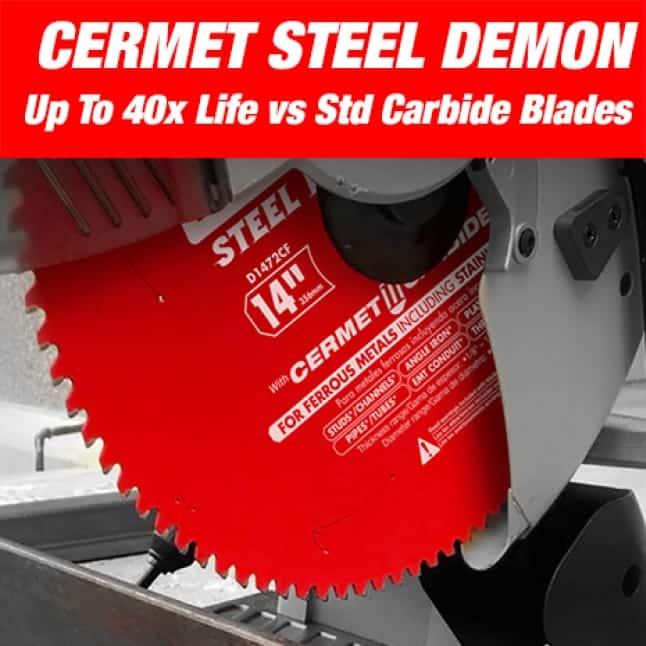 This is an image of a Diablo large diameter cermet steel demon saw blade.