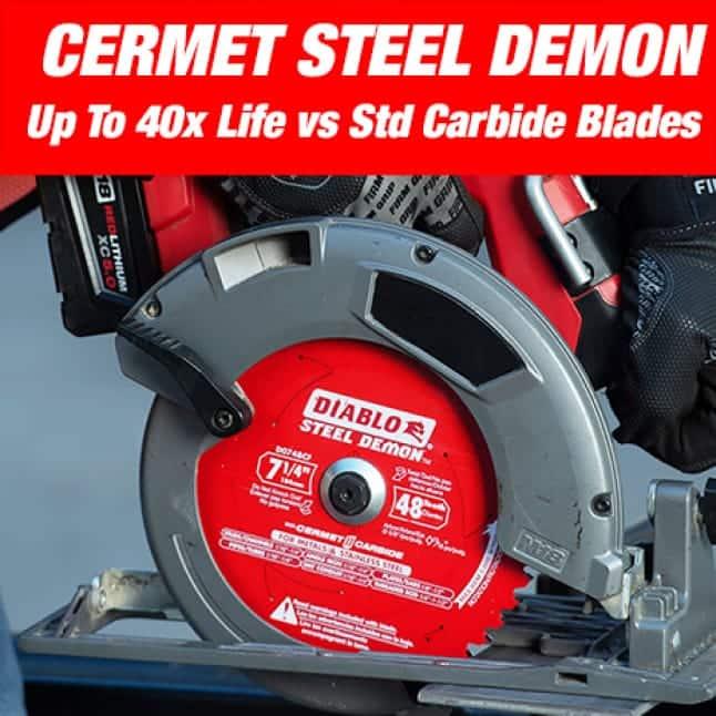 This is an image of a Diablo cermet steel demon carbide blade.