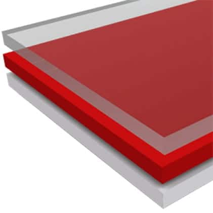 This is an image of plastic and fiber glass material application.