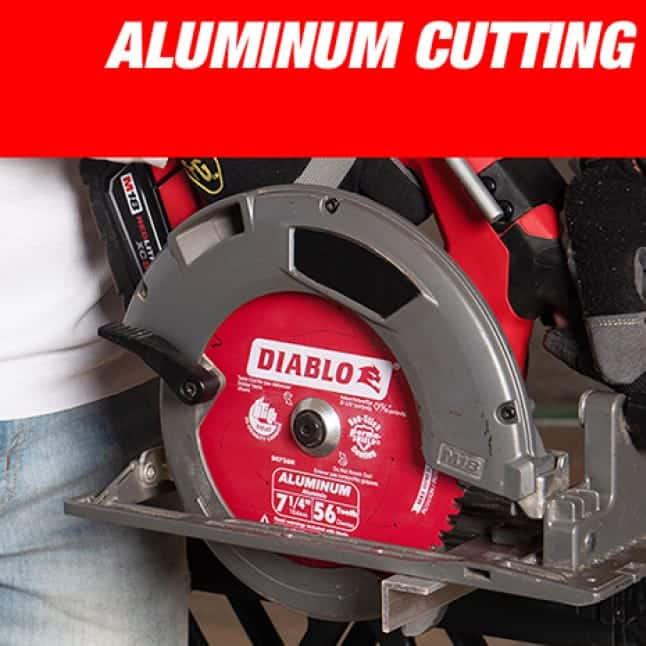 This is an image of a Diablo aluminum cutting circular saw blade.