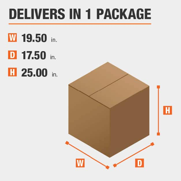Package Dimensions 19.5 inches wide 25 inches high