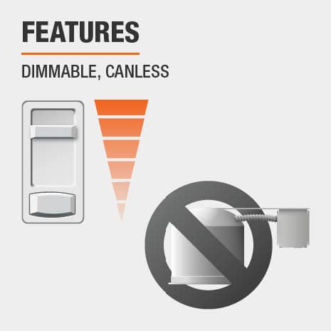 Features - Dimmable, Canless