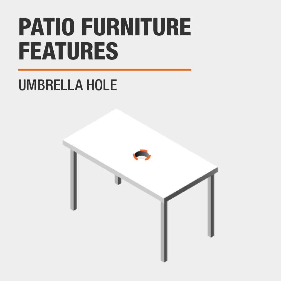 Patio Furniture Features  Umbrella hole