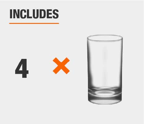Drinkware set includes 4 glass tumblers