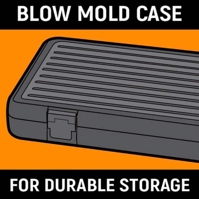 Blow-mold case for storage