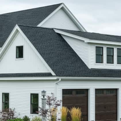 House shown with asphalt shingles