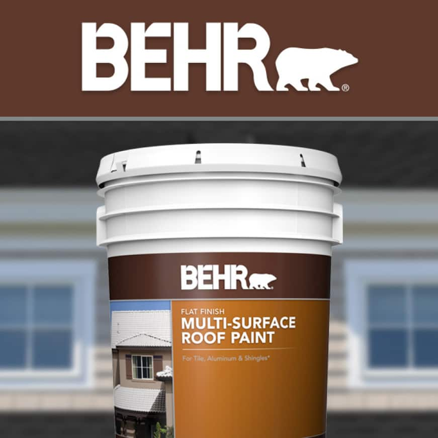 BEHR logo for Multi-Surface Roof Paint