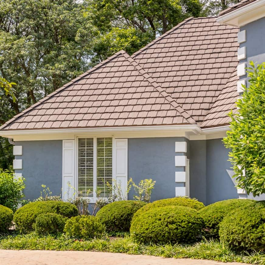 Exterior house shown with tile roofing