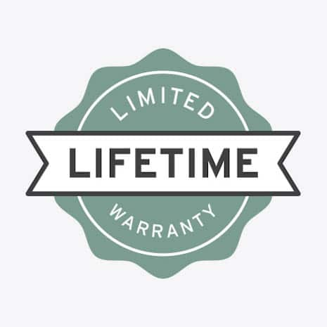 Backed by limited lifetime warranty