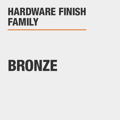 Hardware Finish Family is Bronze