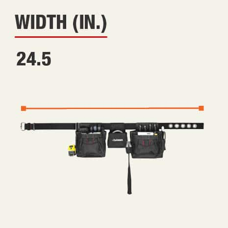 This product's width is 24.5 inches.