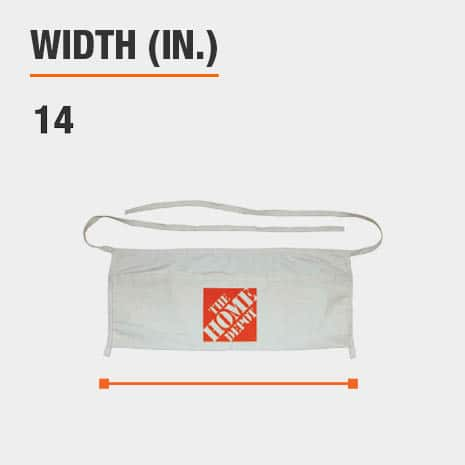 This product's width is 14 inches.