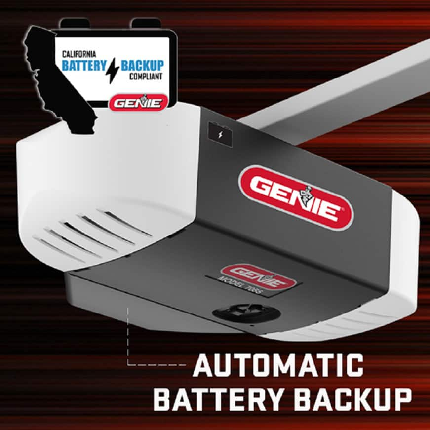 Genie StealthDrive 750 w/ Battery Backup - Slim Profile and Two Light Design