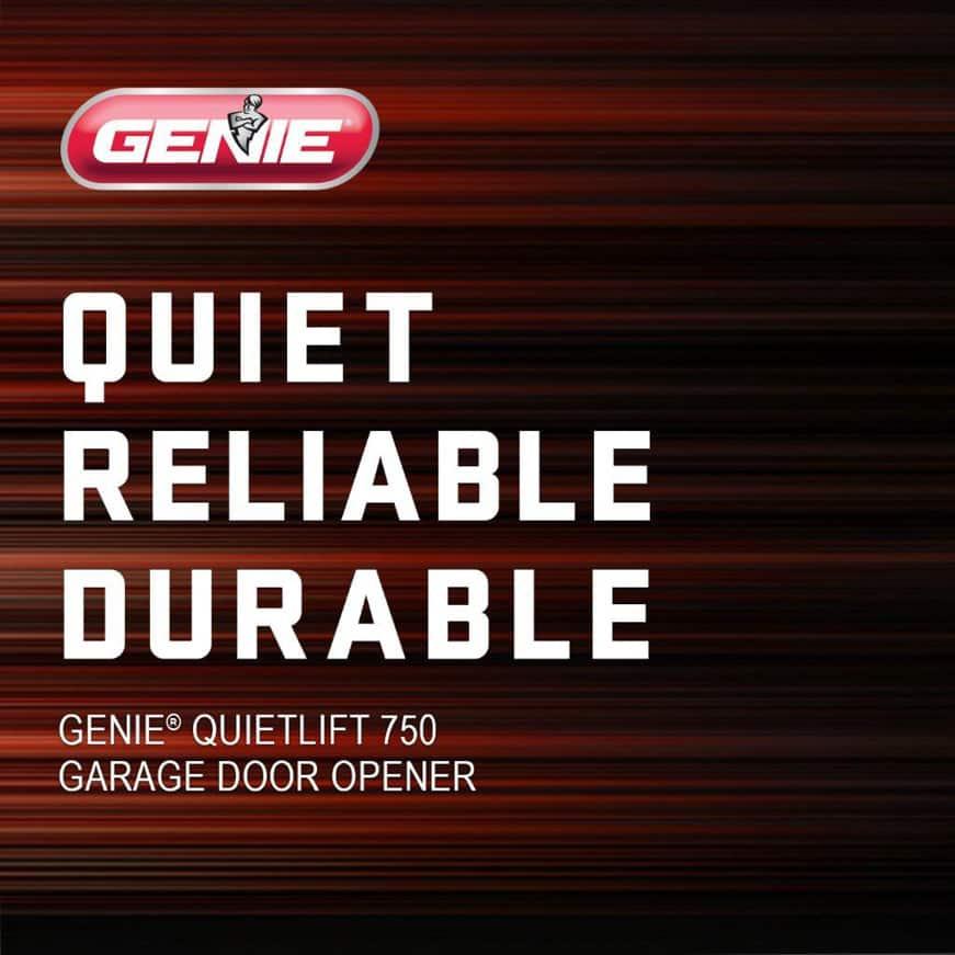Genie has been making safe, reliable garage door openers for over 65 years, 5 piece rail