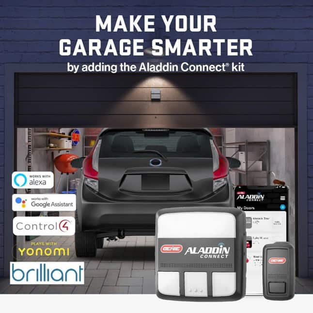 Genie has been making safe, reliable garage door openers for over 65 years, Add Aladdin Connect
