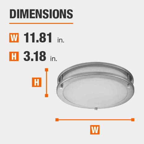 Ceiling Mount Light Fixture  with 11.81in.width and 3.18in. height