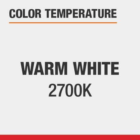 Ceiling Mount light fixture with a color temperature option of Warm White 2700
