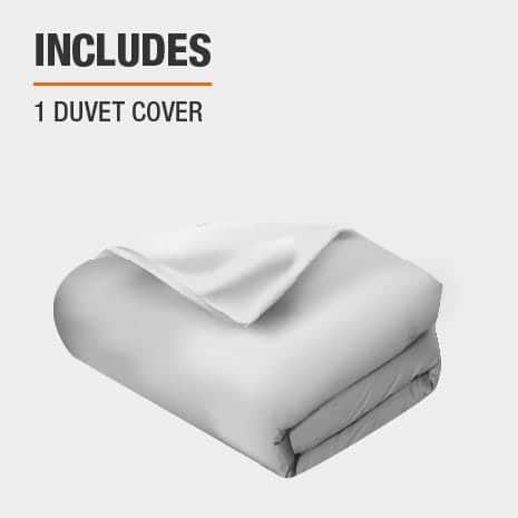 Duvet cover is made of cotton blend material