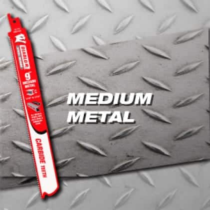 """This is an image of a Diablo 9"""" Carbide medium metal reciprocating saw blade."""