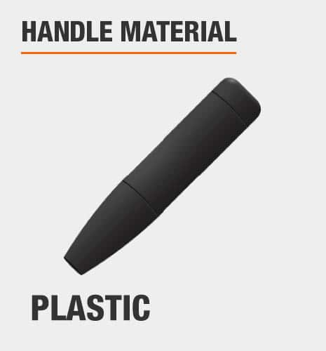The handle material is plastic.
