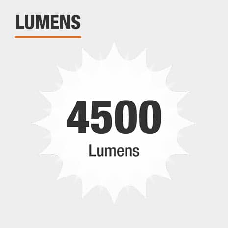 This light has a brightness of 4500 lumens.