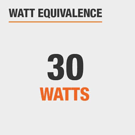 This light has a watt equivalence of 30 watts.
