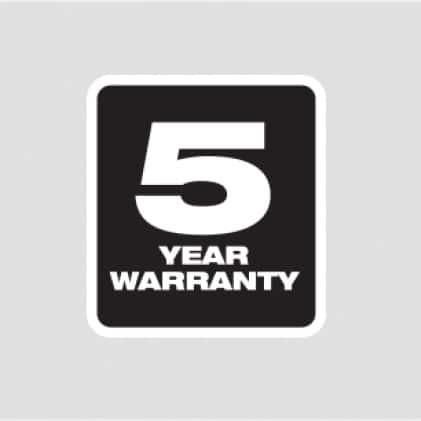5 year Tool Warranty