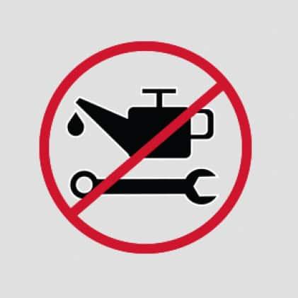 No daily, routine maintenance.