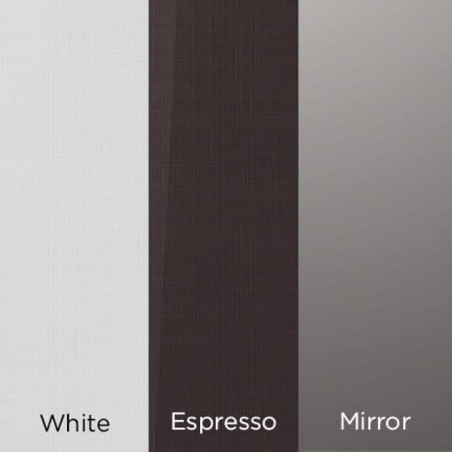 LG Styler is available in  White, Espresso and Mirror