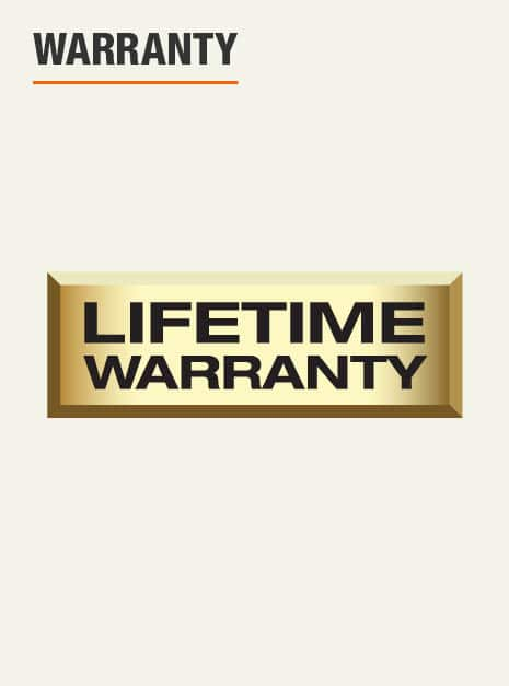 backed by Husky's lifetime warranty
