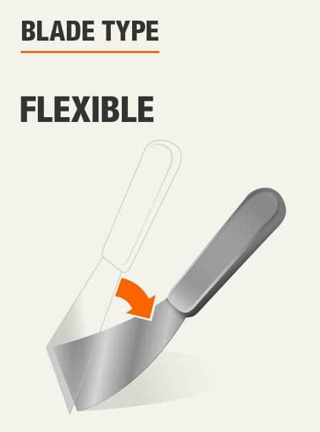 Blade is flexible.
