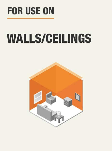 For use on walls and ceilings.