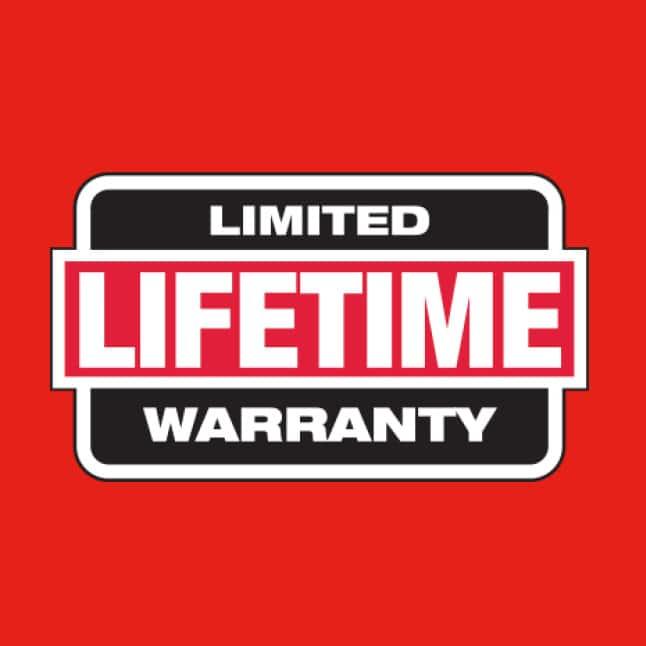 Plate mount has limited lifetime warranty