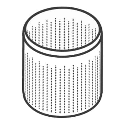 An icon of the rustproof stainless steel drum