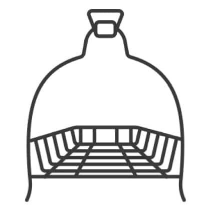 An icon of the dryer rack on a hook