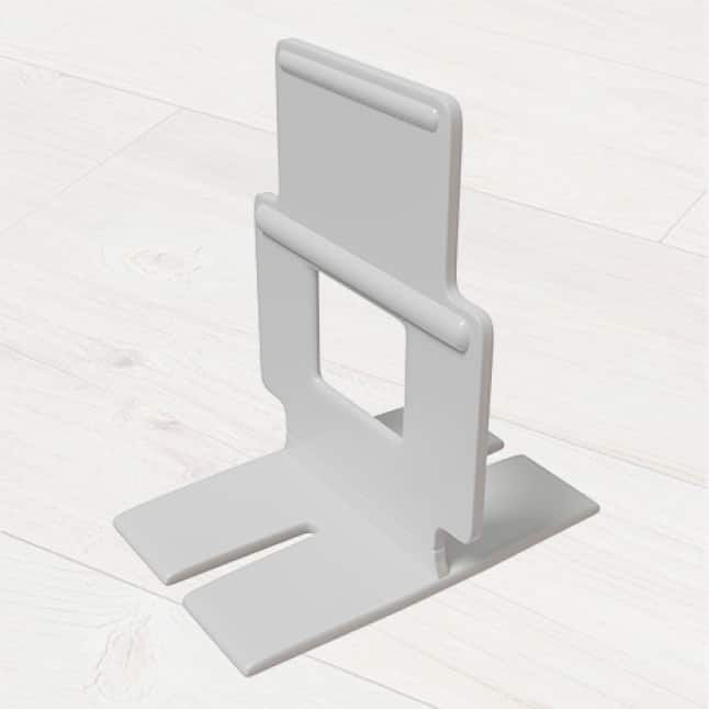 These clips are designed to hold tiles from underneath while still allowing the mortar to grip the tile