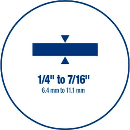 For use with tile from 1/4 in. to 7/16 in.