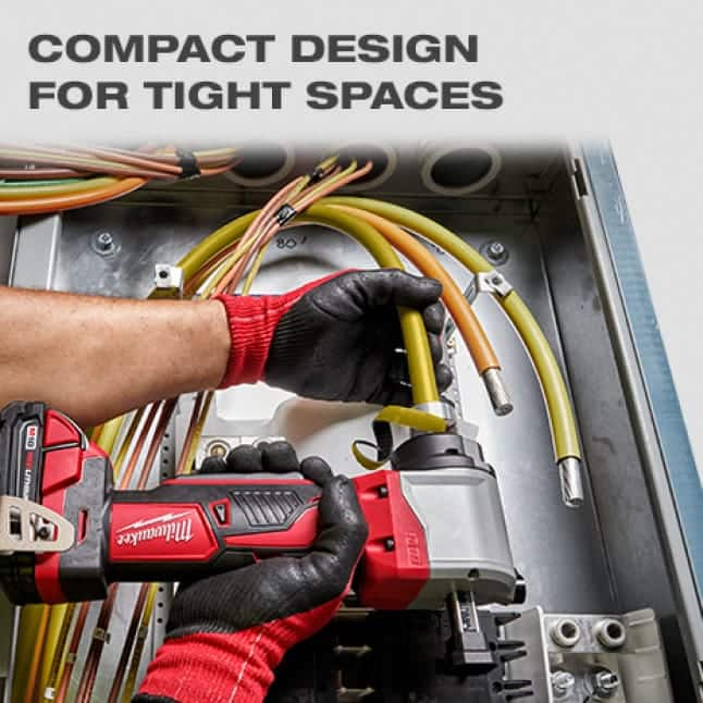 Compact right angle design allows you to easily maneuver in crowded panels and switch gears