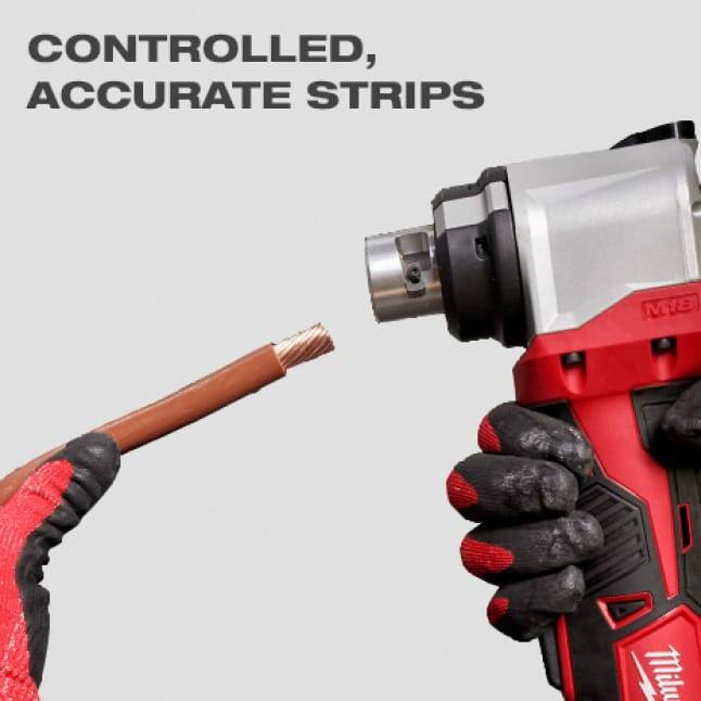 Adjustable depth gauge and variable speed trigger deliver most contolled and accurate strips