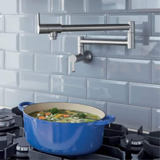 LadyLux 2 Pot Filler Kitchen Faucet