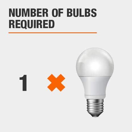 Ceiling Mount light fixture that requires 1 light bulbs