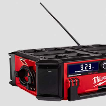Built in 6ft AC cord to keep your M18 Batteries charged all day